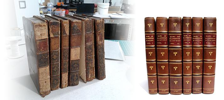 Book restoration for Mr Snow